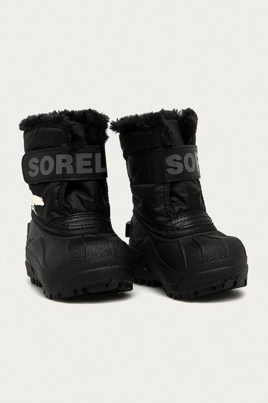 negru Sorel - Cizme de iarna copii Snow Commander De băieți