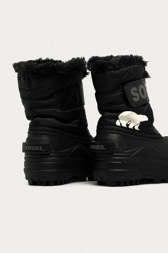 Sorel - Cizme de iarna copii Snow Commander negru