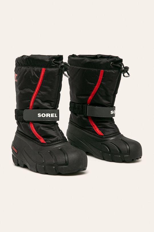 Sorel - Śniegowce dziecięce Youth Flurry czarny