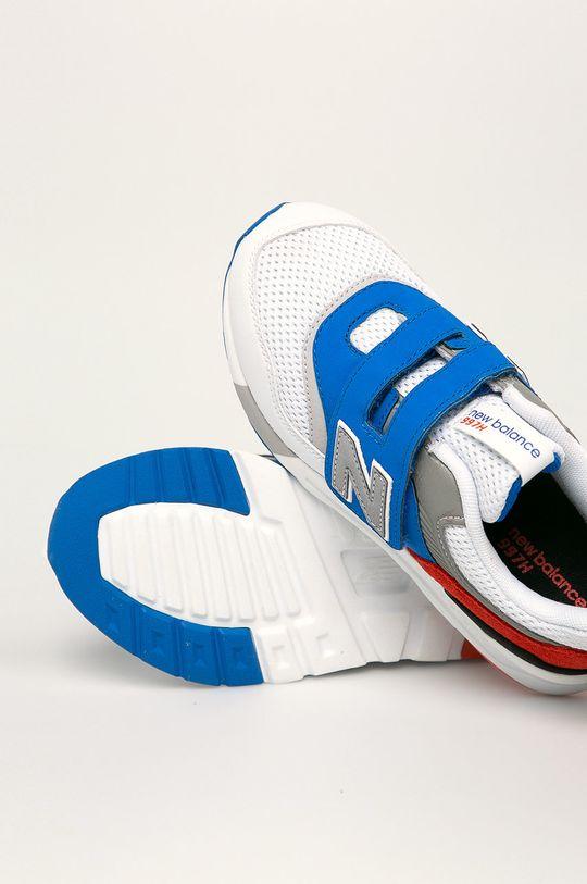 бял New Balance - Детски обувки PZ997HZJ