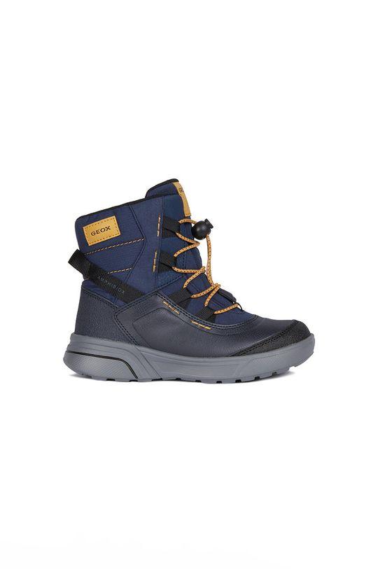 tmavomodrá Geox - Zimné topánky Chlapčenský