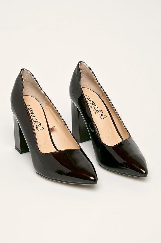 Caprice - Pantofi de piele castan