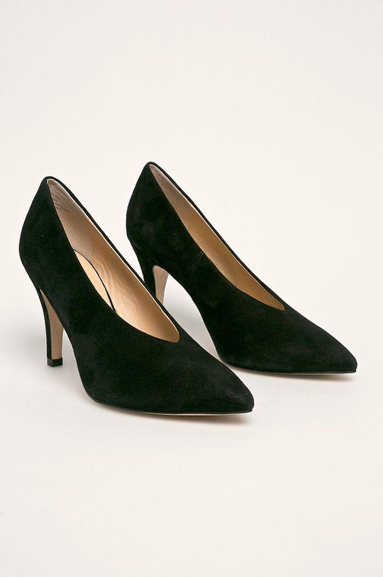 Caprice - Stilettos de piele negru