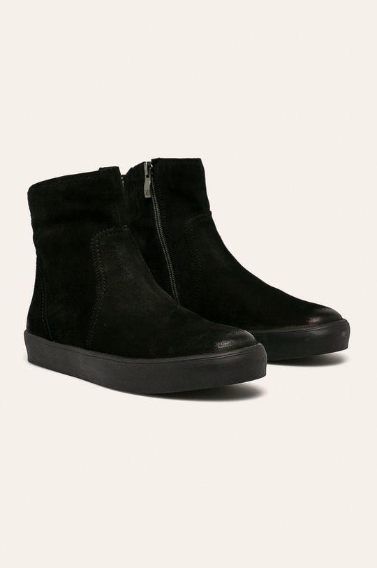 Caprice - Členkové topánky čierna