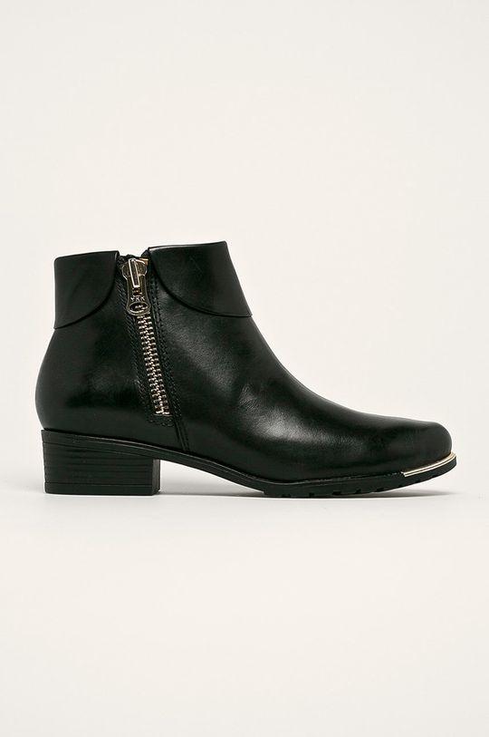 čierna Caprice - Členkové topánky Dámsky