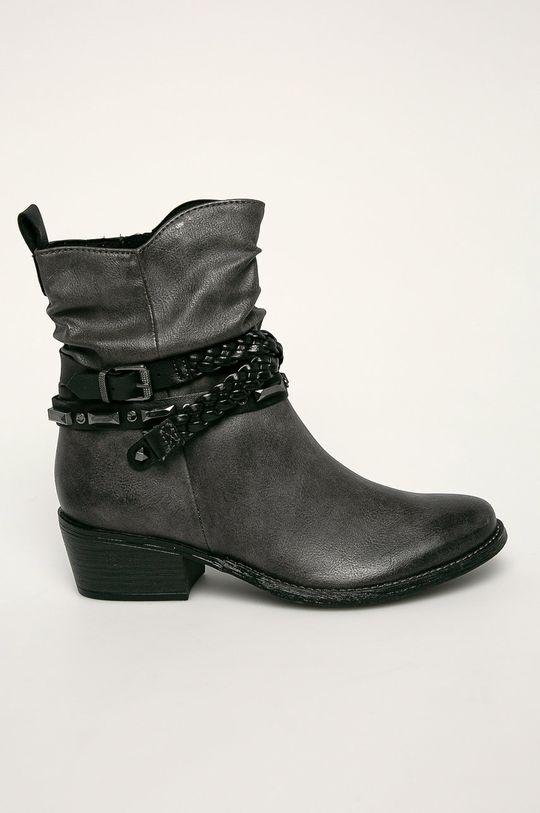 sivá Marco Tozzi - Členkové topánky Dámsky
