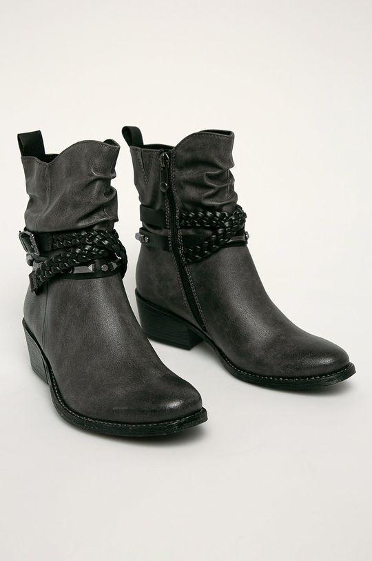 Marco Tozzi - Členkové topánky sivá
