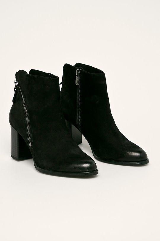Caprice - Cizme de piele negru