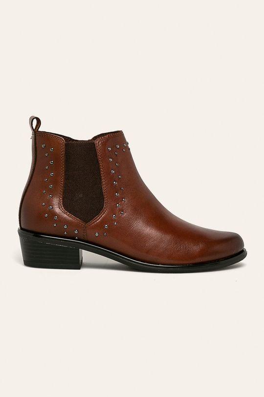 hnedá Caprice - Členkové topánky Dámsky