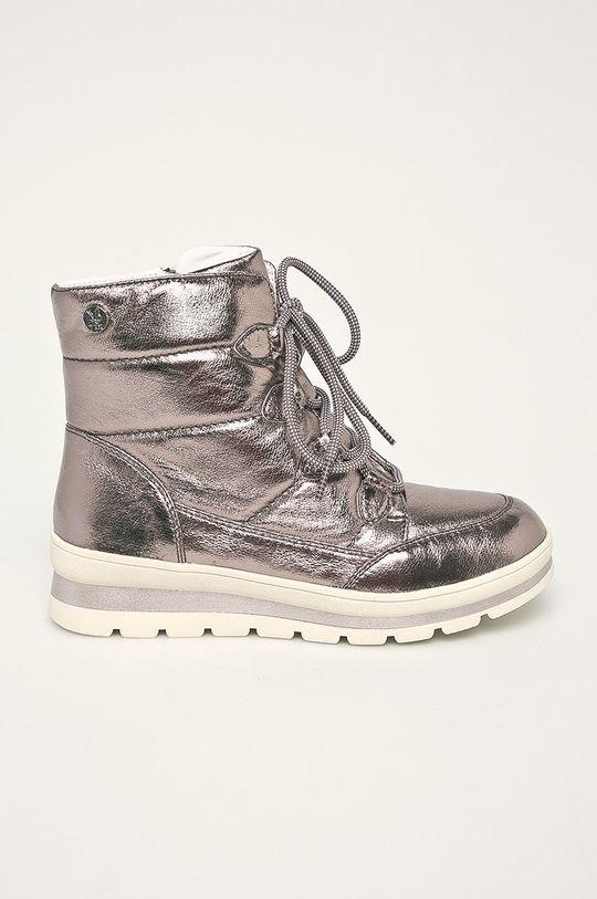argintiu Caprice - Cizme de iarna De femei