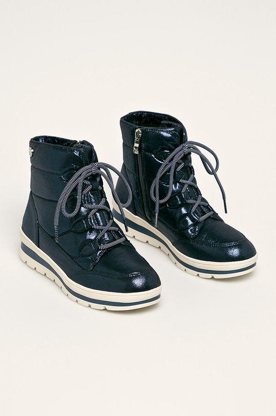Caprice - cizme de iarna bleumarin