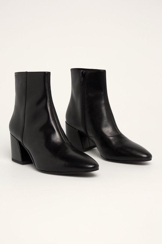 Vagabond - Kožené členkové topánky Olivia čierna