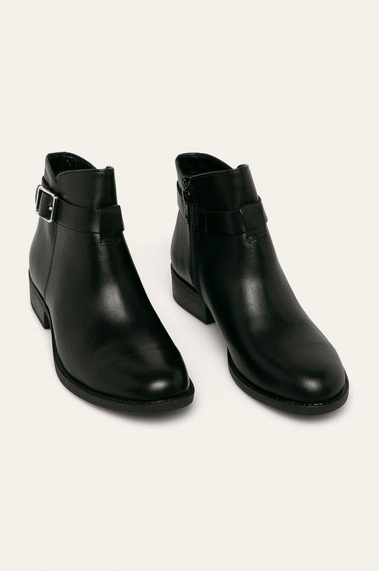 Vagabond - Kožené kotníkové boty Cary černá