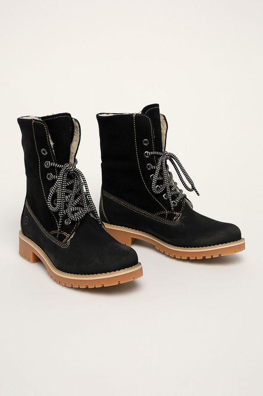 Tamaris - Členkové topánky čierna