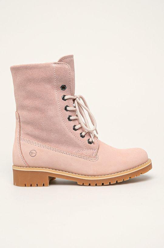 pastelová ružová Tamaris - Členkové topánky Dámsky