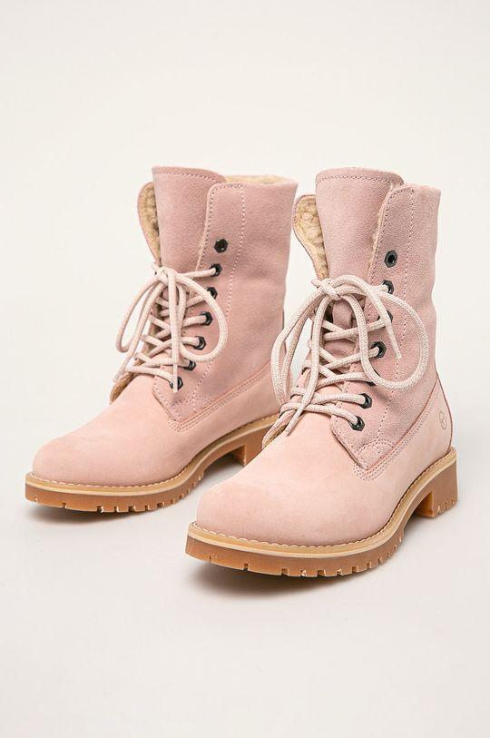Tamaris - Členkové topánky pastelová ružová
