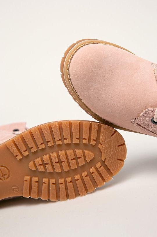 pastelová ružová Tamaris - Členkové topánky