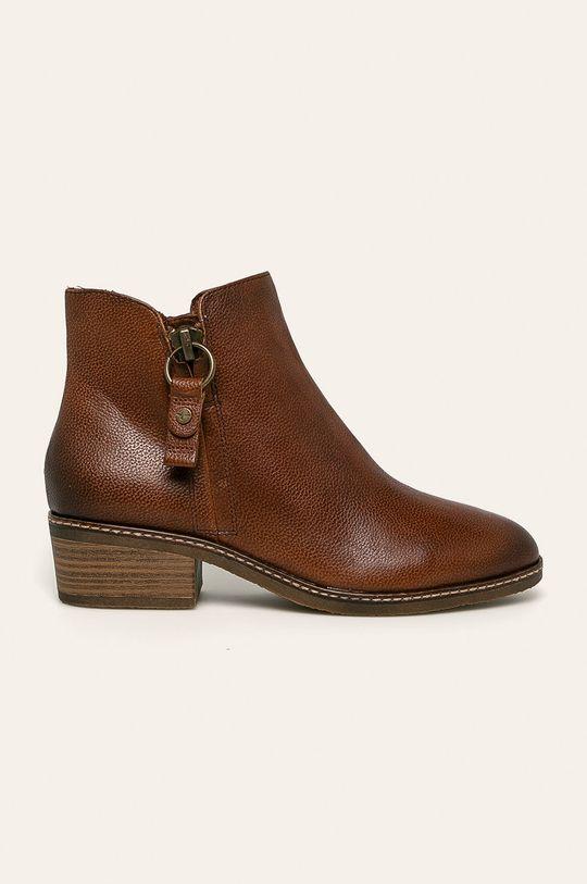 hnedá Tamaris - Členkové topánky Dámsky