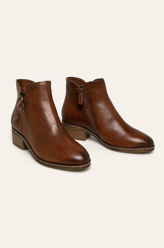 Tamaris - Členkové topánky hnedá