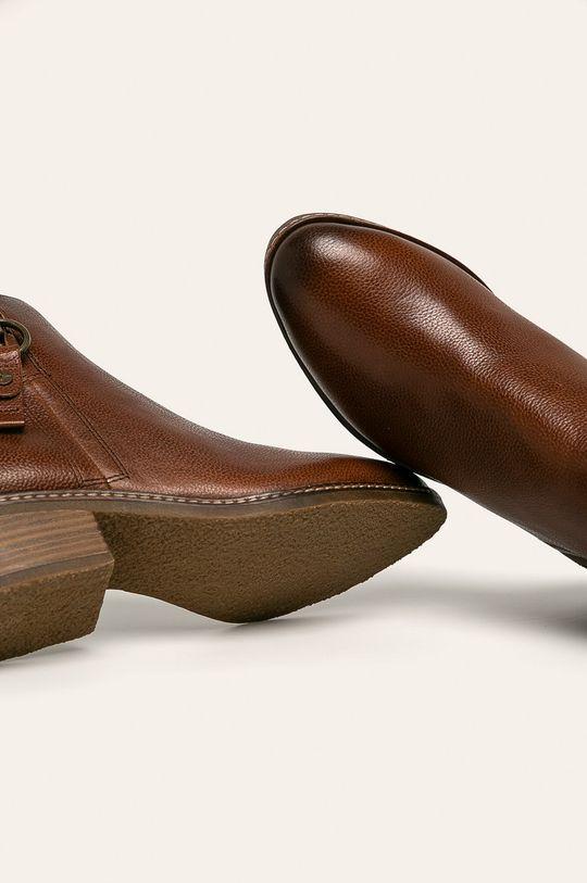hnedá Tamaris - Členkové topánky