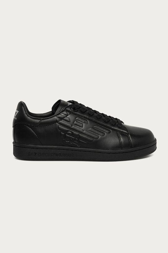 čierna EA7 Emporio Armani - Kožená obuv Dámsky