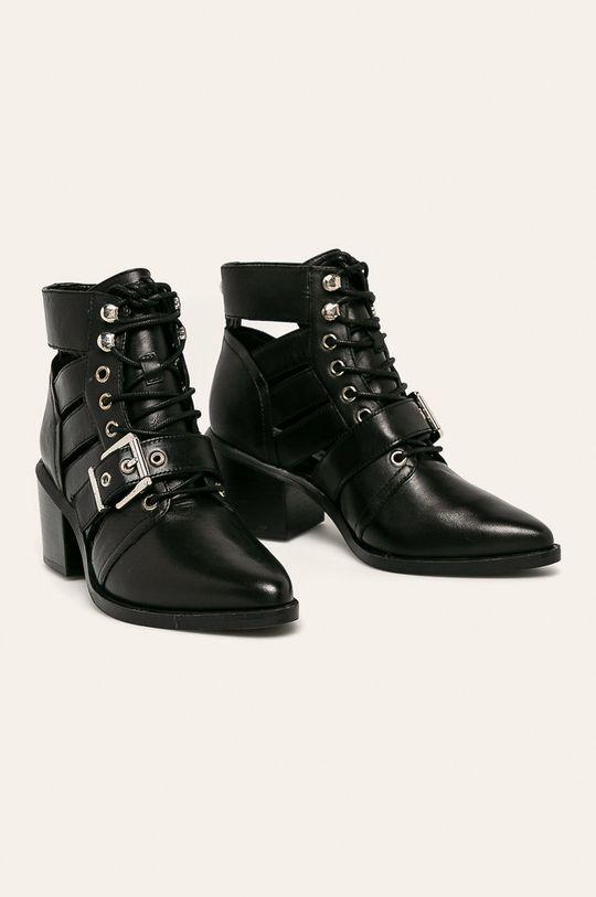 Steve Madden - Členkové topánky Emmy čierna