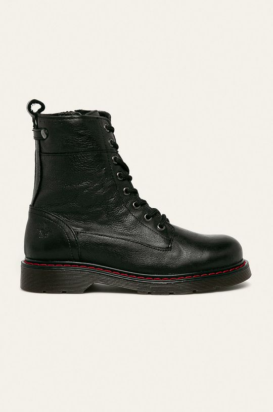 čierna Mustang - Členkové topánky Dámsky