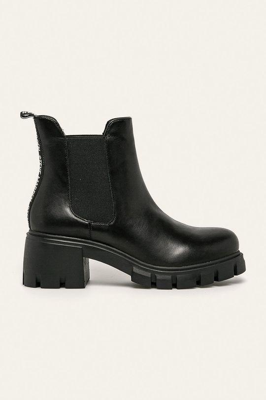 čierna Steve Madden - Kožené členkové topánky Forza Dámsky