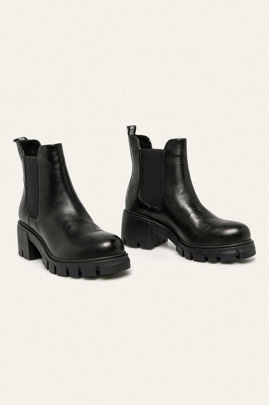 Steve Madden - Kožené členkové topánky Forza čierna