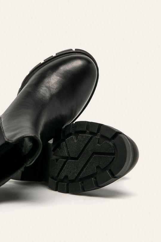 čierna Steve Madden - Kožené členkové topánky Forza
