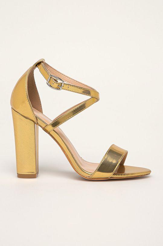 zlatá Glamorous - Sandále Dámsky
