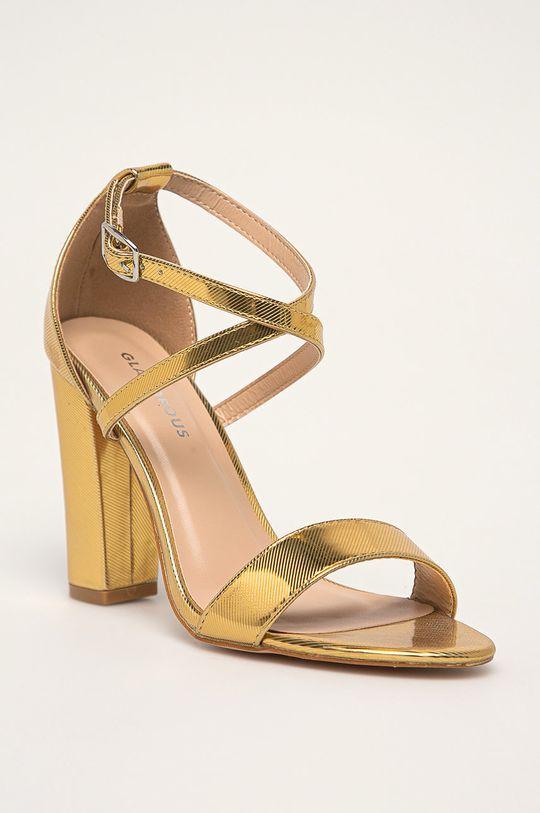 Glamorous - Sandále zlatá
