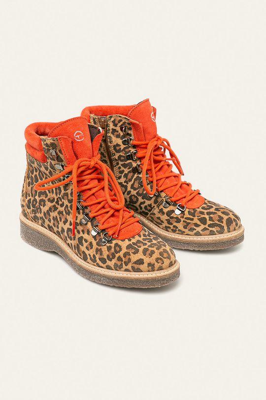 Tamaris - Členkové topánky zlatohnedá
