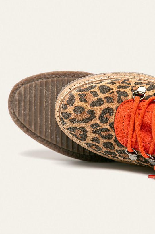 zlatohnedá Tamaris - Členkové topánky