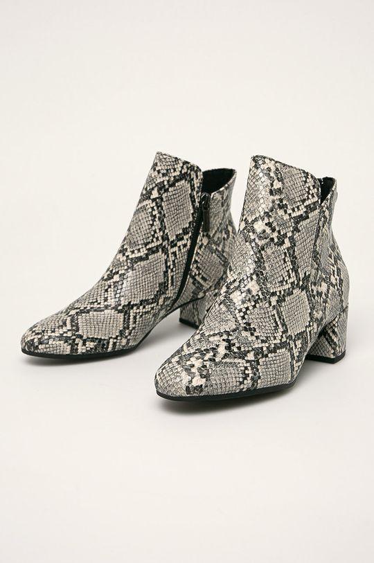 Tamaris - Členkové topánky svetlosivá