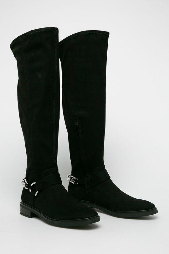 Calvin Klein - Kozačky černá