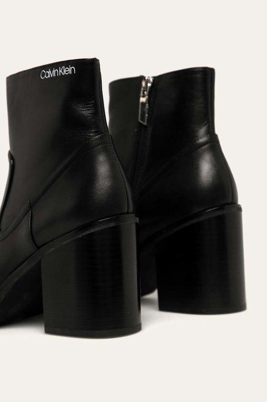 Calvin Klein - Botki skórzane Cholewka: Skóra naturalna, Wnętrze: Materiał syntetyczny, Skóra naturalna, Podeszwa: Materiał syntetyczny