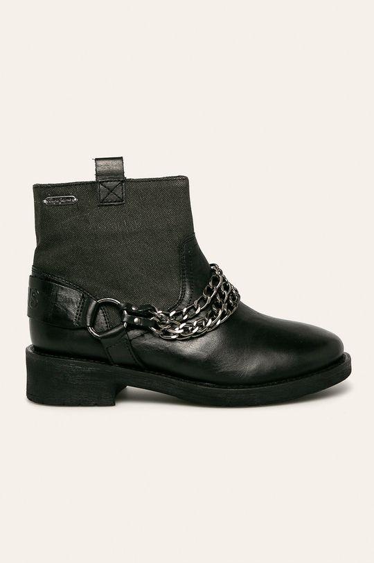 čierna Pepe Jeans - Členkové topánky Maddox Chain Dámsky