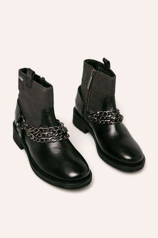 Pepe Jeans - Členkové topánky Maddox Chain čierna