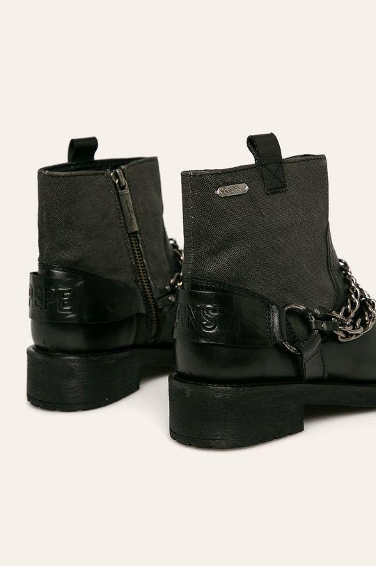 Pepe Jeans - Členkové topánky Maddox Chain  Zvršok: Textil, Prírodná koža Vnútro: Textil, Prírodná koža Podrážka: Syntetická látka