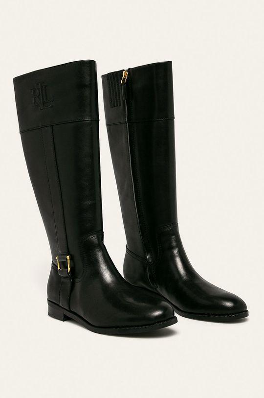 Lauren Ralph Lauren - Vysoké čižmy čierna