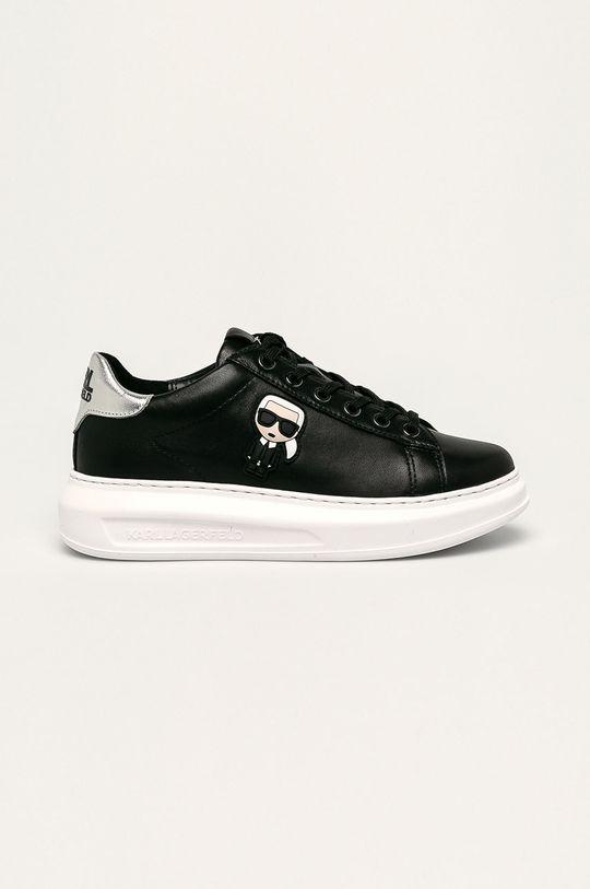čierna Karl Lagerfeld - Kožená obuv Dámsky