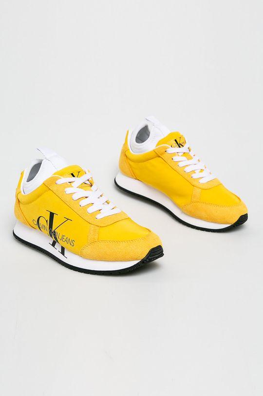 Calvin Klein Jeans - Boty žlutá