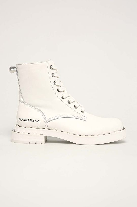 alb Calvin Klein Jeans - Botine De femei