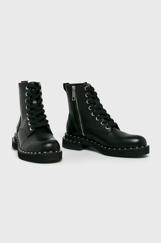 Calvin Klein Jeans - Členkové topánky čierna