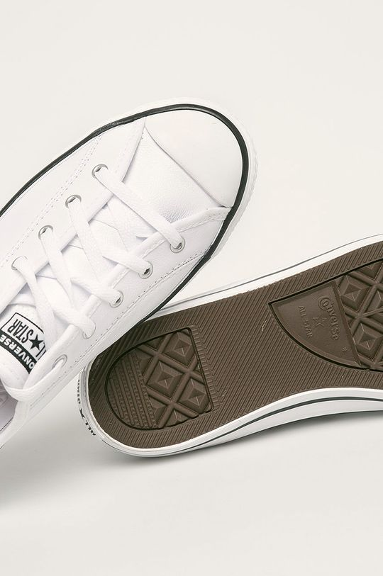 biały Converse - Tenisówki skórzane