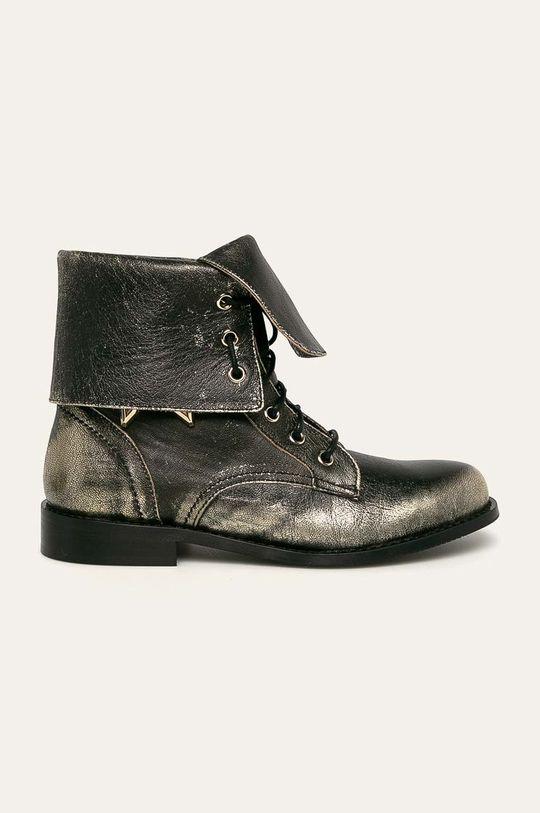 zlatá Patrizia Pepe - Kožené boty Dámský