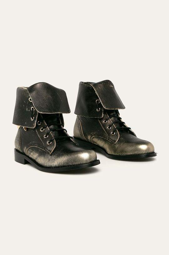 Patrizia Pepe - Kožené boty zlatá