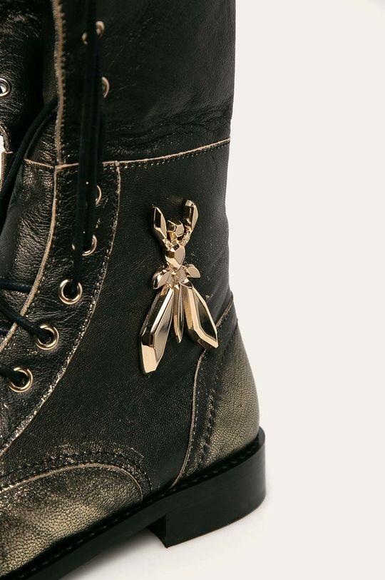 zlatá Patrizia Pepe - Kožené boty