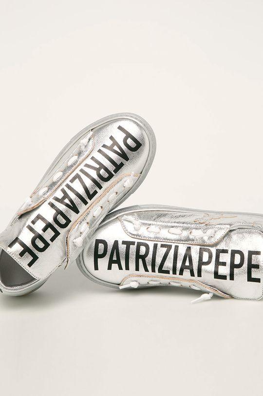 argintiu Patrizia Pepe - Ghete de piele